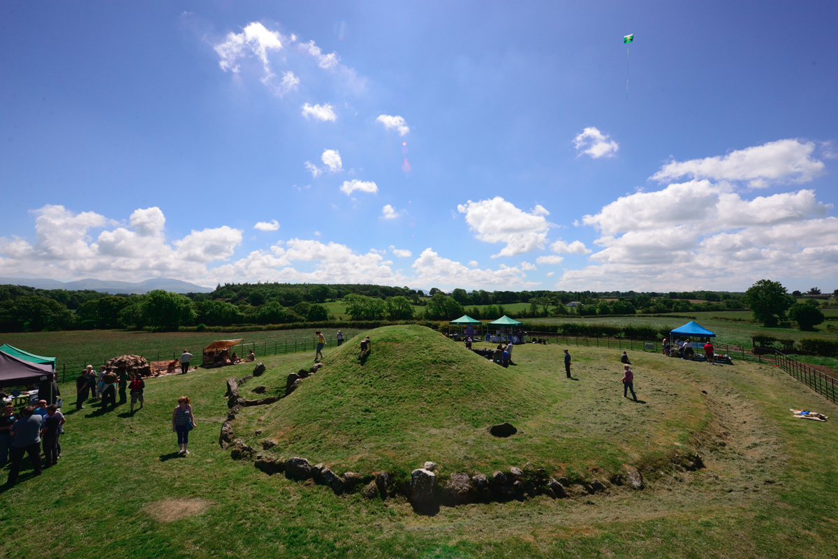 An event at Bryn Celli Ddu in 2018