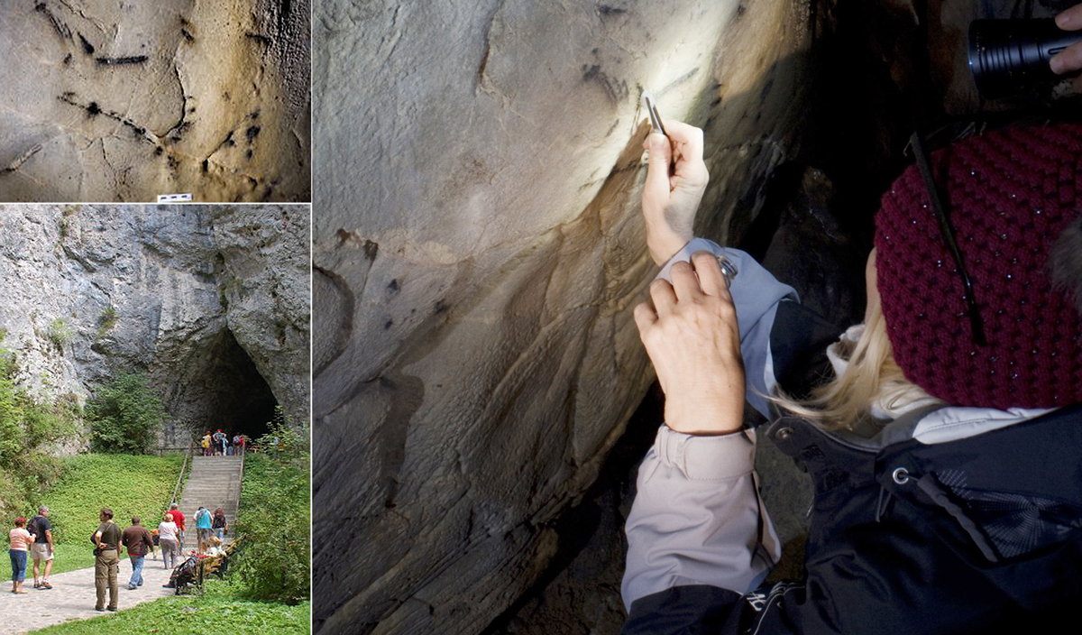 Charcoal drawings discovered near Brno