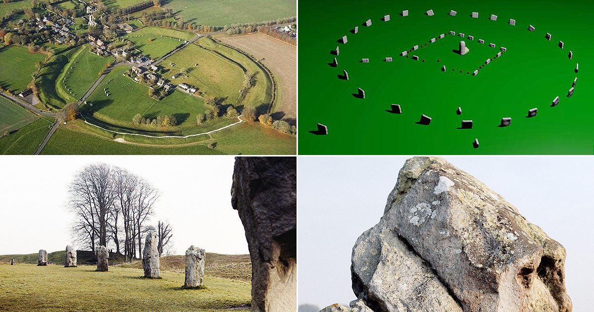 Avebury largest prehistoric stone circle World Heritage Site English Wiltshire Neolithic Bronze age landscape