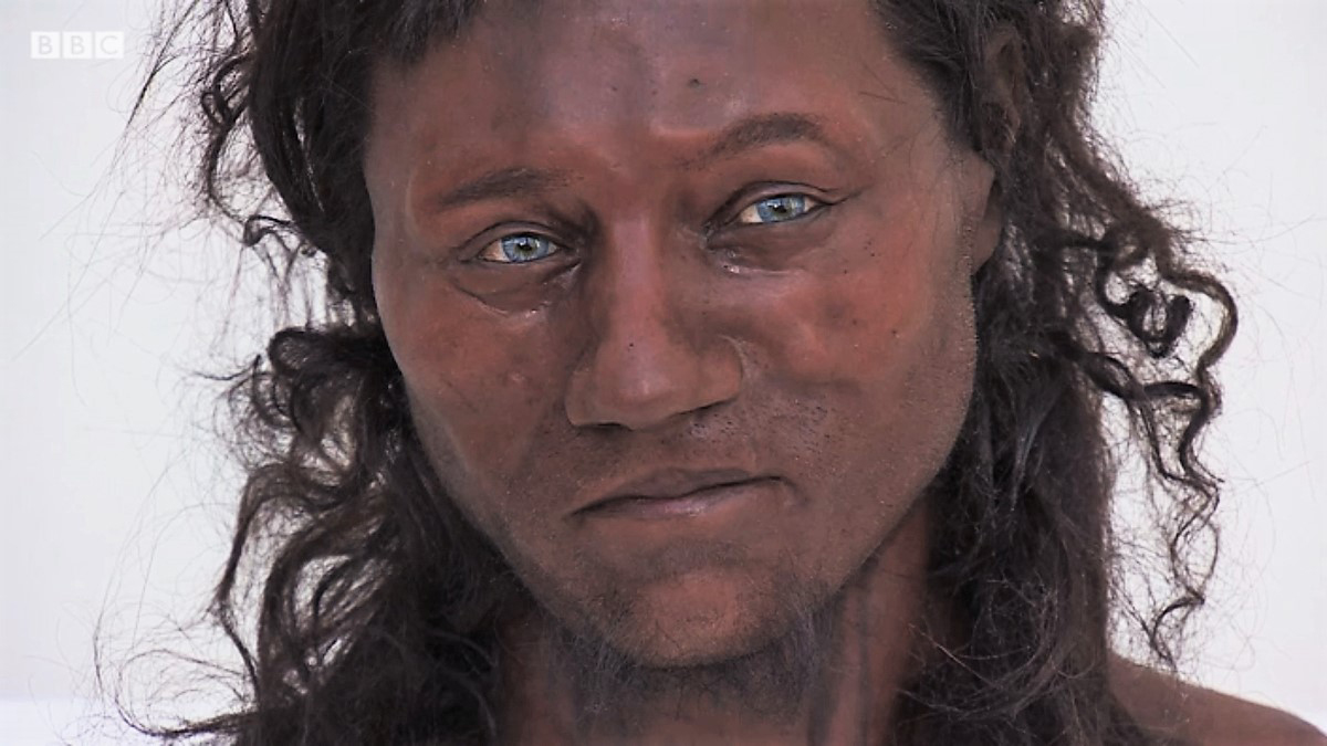 Recent scientific analysis reveals that a Briton from 10,000 years ago had dark brown skin and blue eyes