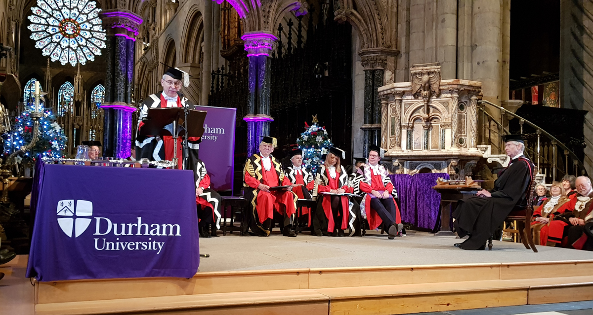 Master of Science Honoris Causa Bradshaw Foundation Chairman Damon de Laszlo University of Durham