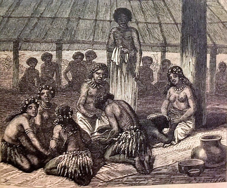 Tattooing day in Samoa 1868-70