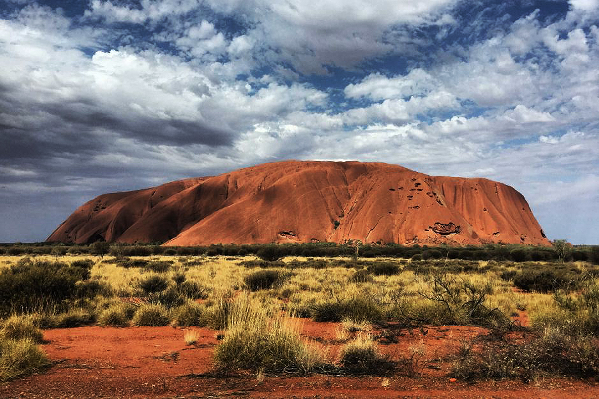 Australia traditional owners aghast Uluru cave painting vandalised vegetable oil national park visitor tourism manager