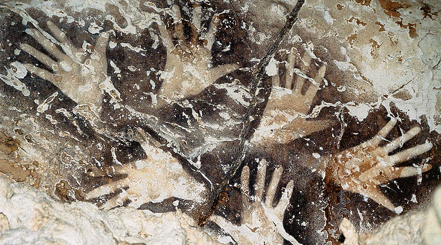 rock art symbols hand paintings