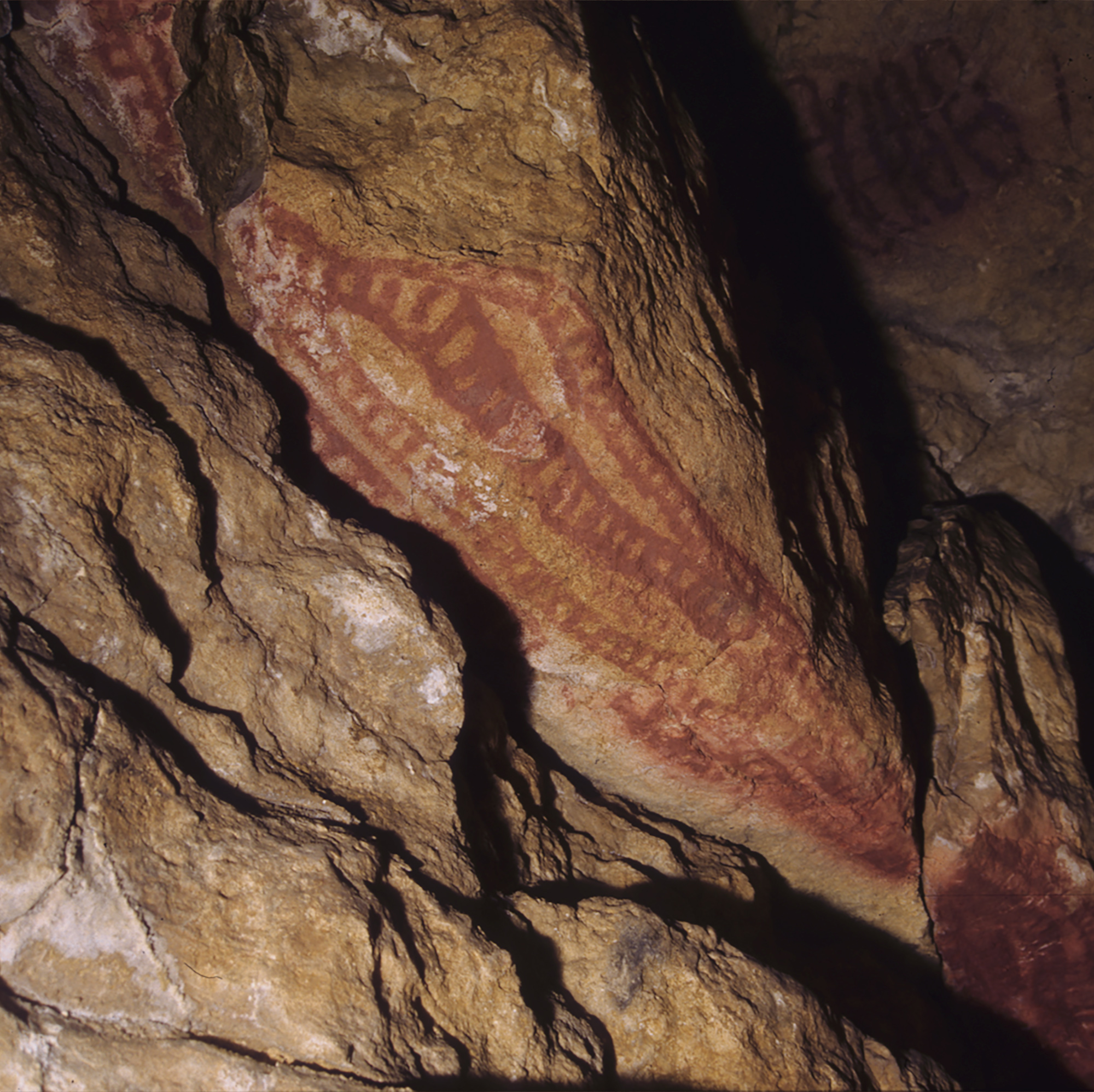 Red Sign Cave Art Paintings Altamira Spain Archaeology